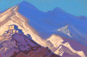 Картина Н.К.Рериха. Тибет. 1940