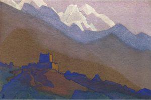 Картина Н.К.Рериха. Тибет. Гималаи. 1936