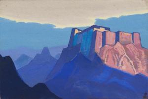 Картина Н.К.Рериха. Тибет. Горная обитель 1933