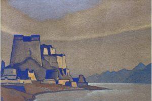 Картина Н.К.Рериха. Тибет. Дзонг. 1936