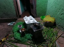 Coffee ceremony setup in my compound