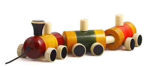 wooden train toy sold by Ethiqana a shop specialising in eco friendly products, earth friendly products and sustainable products.
