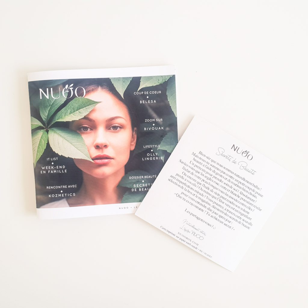 Secrets de beauté (Nuoo Box – Mai 2018) Magazine