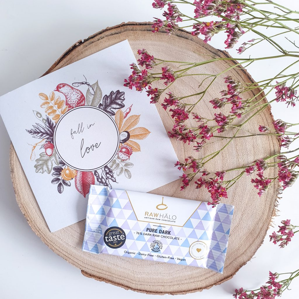 Fall in love [Nuoo Box – Octobre 2019] RAW HALO – Barre de chocolat Pure dark