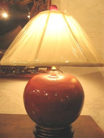 陶器花瓶をランプに改造