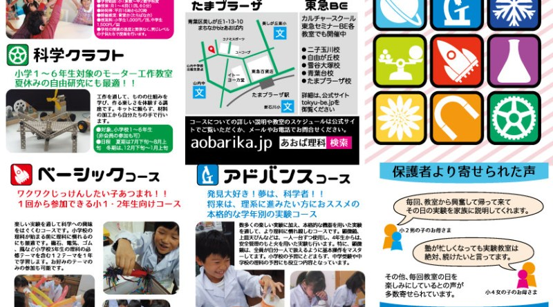 あおば理科 横浜市青葉区 理科実験教室 桜台エスニカ