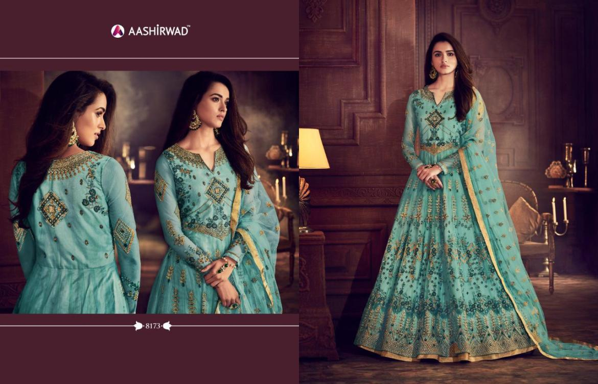 29f247ec17 Published on April 2, 2019 in Aashirwad Creation Nafisa Heavy Designer  Embroidered Butterfly Net Anarkali Wedding Suits CollectionFull resolution  (1280 ...