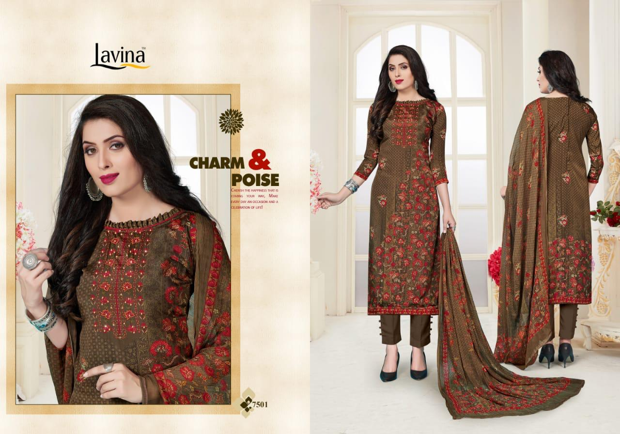 c74ee8ec3a Download Image Zip · Download PDF · Download Image Zip · Download PDF. Lavina  Vol 75 Silky Digital Printed French Crepe with Embroidery Work ...