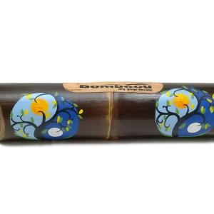 Altavoz de bambú pintado Yin Yang Moon Sun Blue