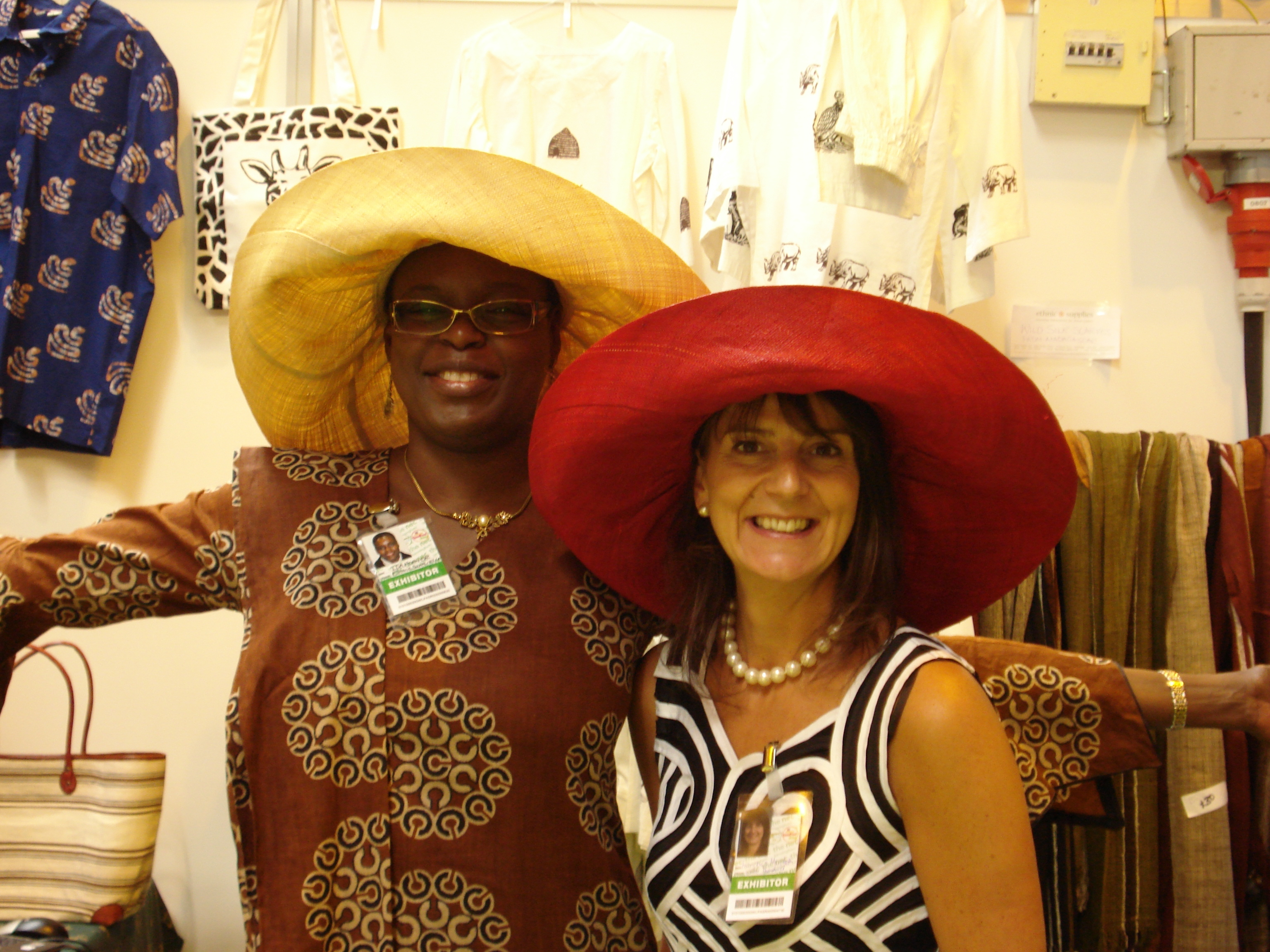 a fellow exhibitor who fell in love with thsoe hats