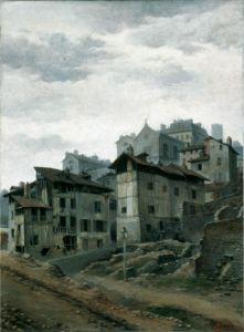 Les maisons en contrebas