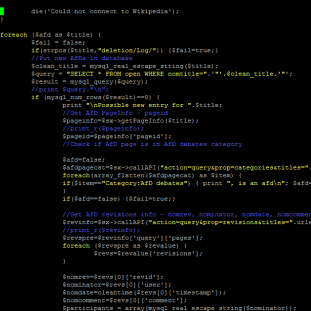 Source code from AfDStatBot's core program