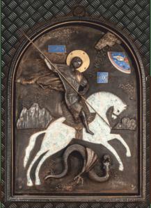 Уникальная икона святого Георгия Победоносца
