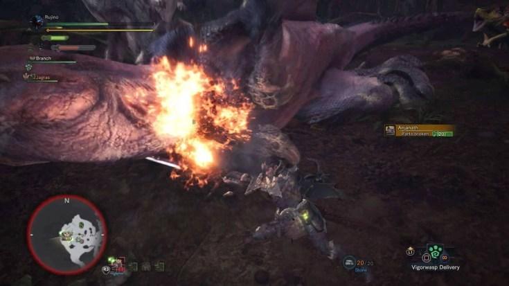 Monster Hunter World Long Sword Spirit Thrust