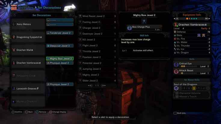 MHW Bow Charge Plus skill