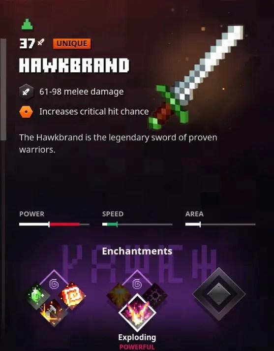 Minecraft Dungeons Hawkbrand