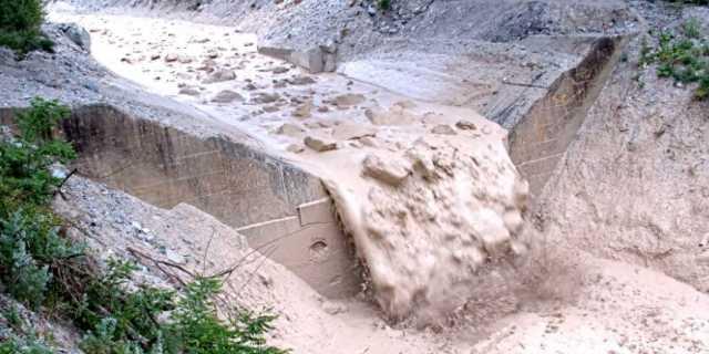 Mudslide at Illgraben
