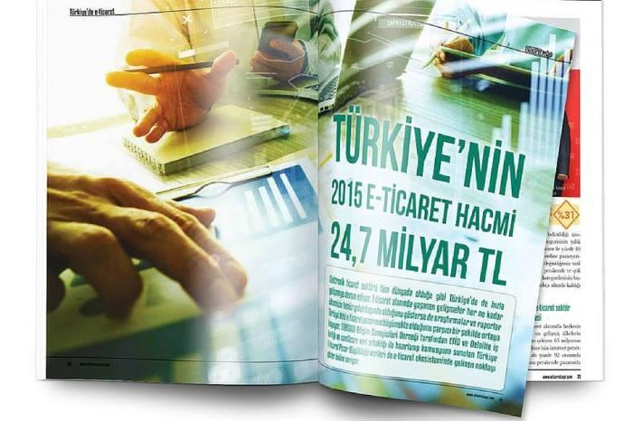 Türkiye'nin 2015 e-ticaret hacmi 24,7 milyar TL