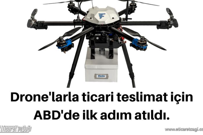Drone'larla ticari teslimat için ABD'de ilk adım atıldı