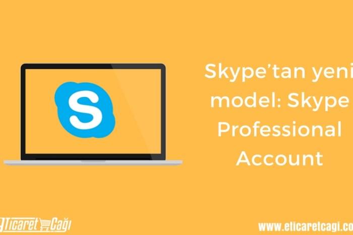 Skype'tan yeni model: Skype Professional Account