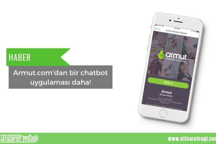 Armut.com'dan bir chatbot uygulaması daha!