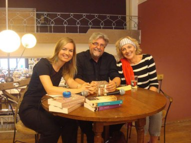 Interview in Boekhandel De Zondvloed, Mechelen, Belgium, with Brussel FM's DJ Kim Ponsaerts, and South African novelist Marita van der Vyver
