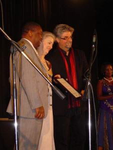 Receiving the WA Hofmeyr Award for 30 Nagte in Amsterdam, 2009.