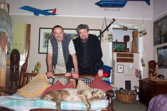 With photographer Obie Oberholzer in his Grahamstown home.