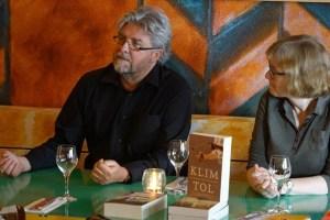Being interviewed by Ingrid Glorie in restaurant Viva Afrika, Rotterdam, Netherlands
