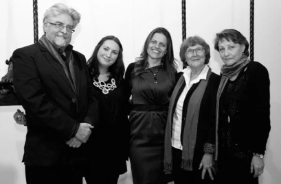 Etienne van Heerden (WA Hofmeyr Award), SA Partridge (MER Award), Dominique Botha (Jan Rabie Rapport Award), Linda Rhode (MER Award) and Irina Filatova (Recht Malan Award)