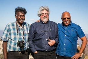 With organiser Darryl David and novelist Kirby van der Merwe (Photo: Amy Coetzer)