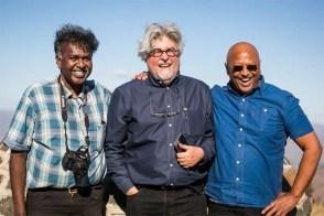 With organiser Darryl David and novelist Kirby van der Merwe (Photo: Amy Coetzer)