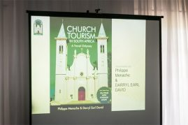 Darryl David spoke about his book Church Tourism in South Africa (Photo: Amy Coetzer)