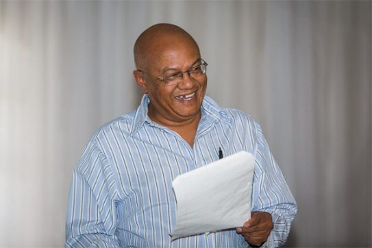 Clinton du Plessis launched his new poetry anthology, Aantekeninge teen die skemeruur. (Photo: Amy Coetzer)