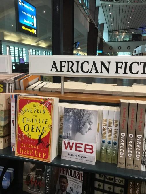 Bookshop, King Shaka International, Durban.
