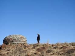 At Olive Shreiner's grave, Buffelskop, Cradock