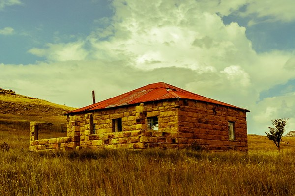 Lesotho I came across an old abandoned farm house outside of the town of Clarens in the Freestate