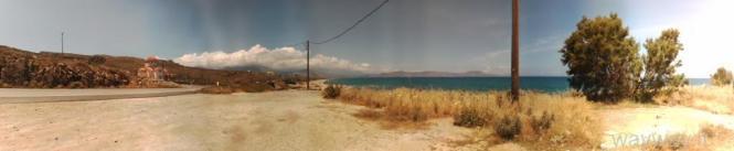 Jūros pakrantės netoli Retimno ( Rethimnon) . Kreta
