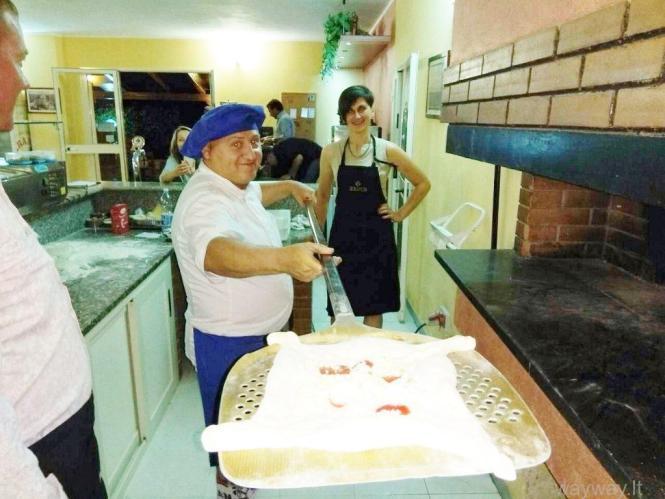 Nepakartojamos picos kepimo pamokos Italijoje