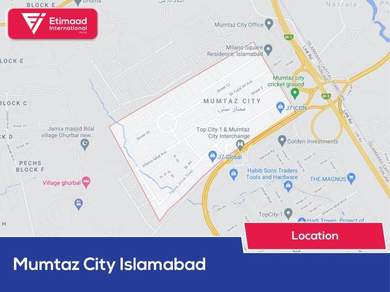 Mumtaz City Islamabad Map