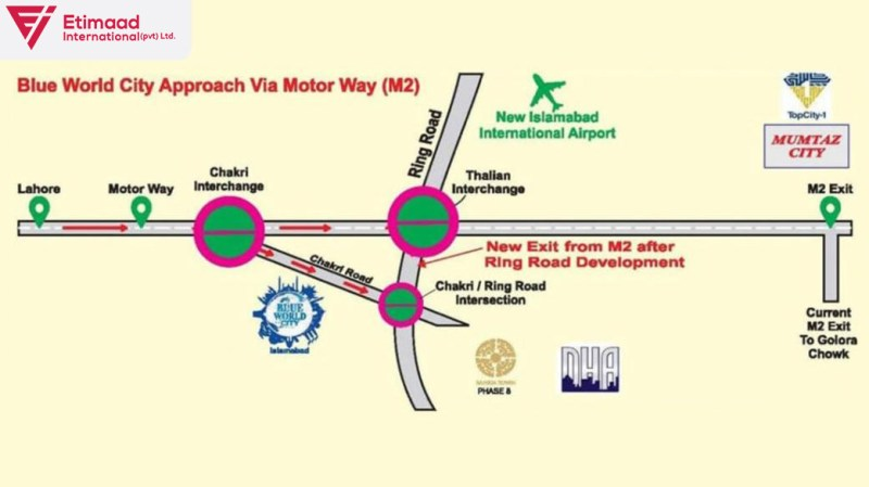 Master Plan of Blue World City Islamabad