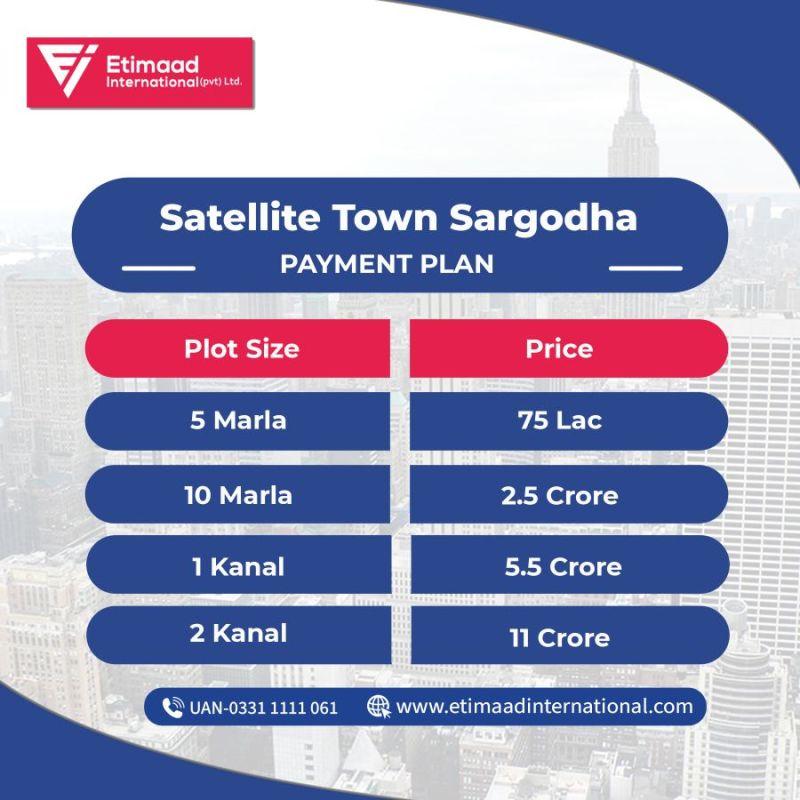 Payment Plan satellite town sargodha