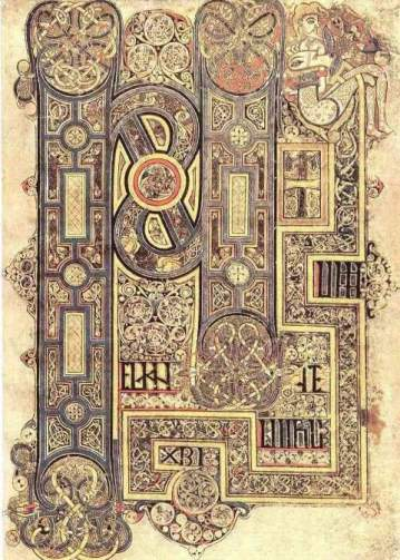The opening words of Mark's Gospel, from the Book of Kells (9th century), Folio 130R