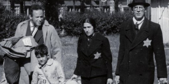 Jews in Nazi Germany, 1940's, marked with the mandatory yellow badge