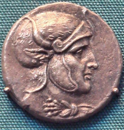 Coin of Seleucus I, likely depicting a posthumous portrait of Alexander the Great. Courtesy of Wikimedia Commons