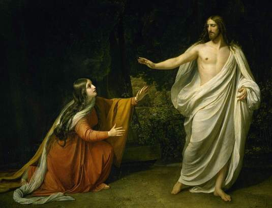 Alexander Ivanov — Christ's Appearance to Mary Magdalene after the Resurrection (1835)