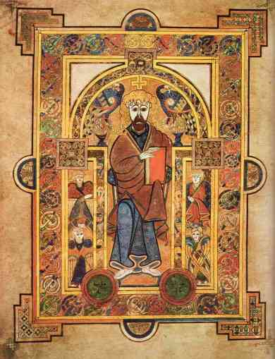 Book of Kells, Folio 32V. Portrait of St. Mark or St. Luke