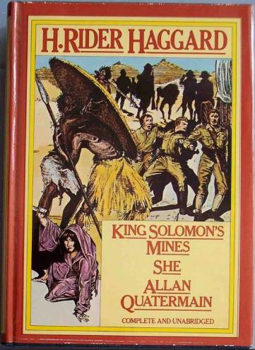 The 1885 novel 'King Solomon's Mines' in a hardback compendium