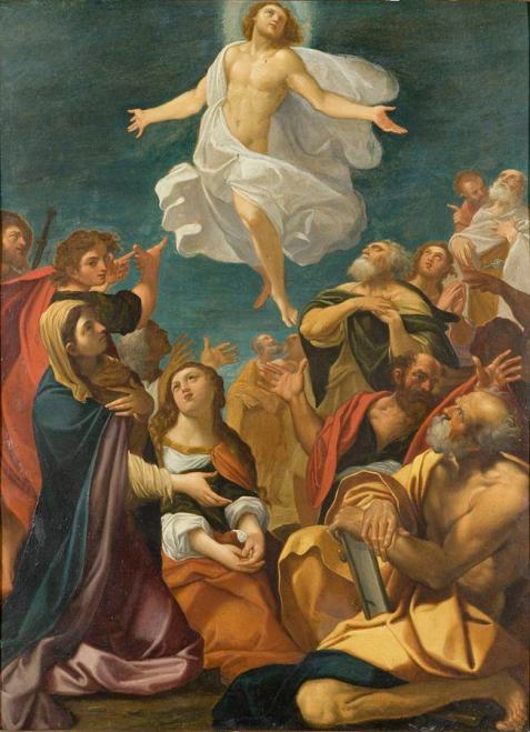 Ascension of Christ, by Giacomo Cavedone (circa 1640)