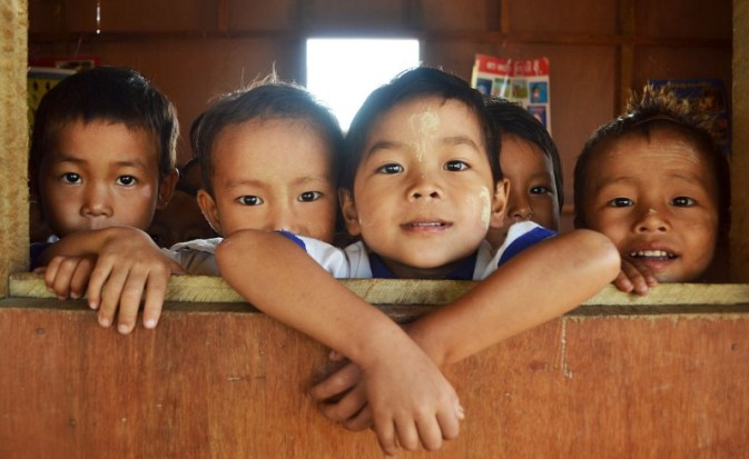 Children at the St. Joseph camp for displaced people in Kachin State, northern Myanmar, October 2013. https://commons.wikimedia.org/wiki/File:Burma_4_Humanitarian_16_(10755213654).jpg